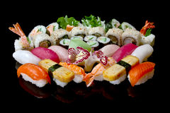 Grand positionnement de sushi Photographie stock libre de droits