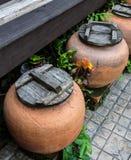 Grand pot de l'eau dans la station thermale Photographie stock