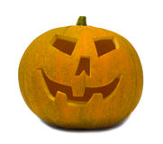 Grand potiron orange de Jack-O-Lanterne Photographie stock libre de droits