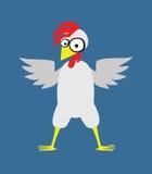 Grand poulet avec une crête rouge Image libre de droits