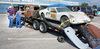 Car Swap Meet at Traders Village. stock photography