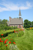 Grand Pre. The Memorial Church of Grand Pre located in the Annapolis Valley of Nova Scotia in the Grand Pre National Historic Site, a park commemorating the Stock Photos