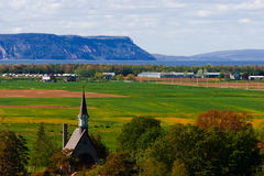 Grand Pre Blomidon Nova Scotia stock images
