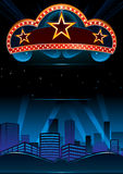 Grand premiere. Design for great entertainment show in city Stock Photography
