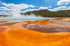 Grand Prismatic basin Yellowstone Royalty Free Stock Images