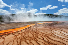 Grand Prismatic basin Yellowstone Royalty Free Stock Photos