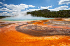 Grand Prismatic basin Yellowstone Stock Images