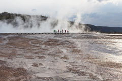 Grand Prismatic basin Yellowstone Stock Photo