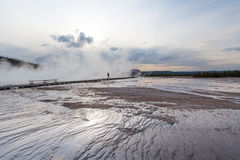 Grand Prismatic basin Yellowstone Royalty Free Stock Photography