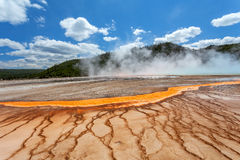 Grand Prismatic basin Yellowstone Stock Photos