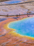 Grand Prismatic Geyser from above Stock Photos