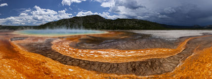 Grand Prismatic Hot Spring- Yellowstone Stock Images