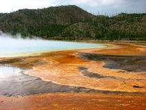 Grand Prismatic Hot Spring at Yellowstone Stock Image