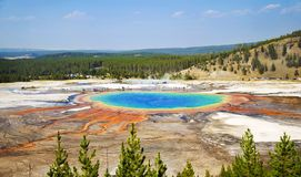 Grand Prismatic Hot Spring in Yellowstone. National park, Wyoming royalty free stock image