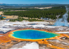 Grand Prismatic Hot Spring Yellowstone National Park. Grand Prismatic Hot Spring is the largest hot spring in Yellowstone National Park. Photo is taken from a Royalty Free Stock Photography