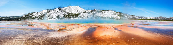 Grand Prismatic, Panorama stock images