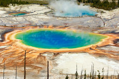 Grand Prismatic pool seen from the top Stock Image