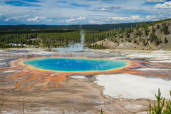 Grand prismatic pool, yellowstone National park Royalty Free Stock Images
