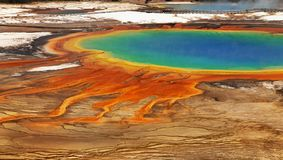 Grand Prismatic Pool Yellowstone National Park. A breathtaking view of the magical eye - Grand Prismatic Pool. Yellowstone National Park Stock Photos