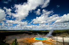 Grand Prismatic Pool at Yellowstone National Park Royalty Free Stock Photography