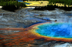 Grand Prismatic Pool at Yellowstone National Park Royalty Free Stock Photos