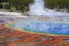 Grand Prismatic Spring. View of Grand Prismatic Spring in Yellowstone Stock Photography