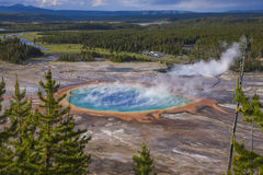Grand Prismatic Spring Areal View Royalty Free Stock Photo