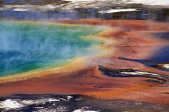 Grand Prismatic Spring Edge View Stock Photos