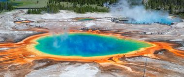 Grand Prismatic Spring In Yellowstone Stock Images