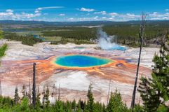 Grand Prismatic Spring In Yellowstone National Park. Royalty Free Stock Photos