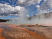 Grand Prismatic Spring. Is a mystic place in Yellowstone National Park Royalty Free Stock Image