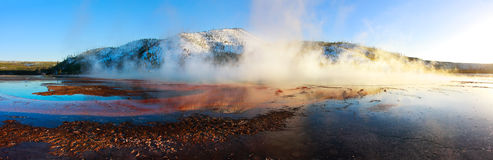 Grand Prismatic Spring Panorama Stock Image