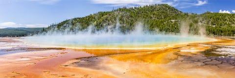 Grand Prismatic Spring Panoramic Stock Image