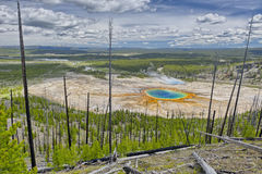 Grand Prismatic Spring from Picture Hill Royalty Free Stock Image