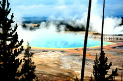 Grand prismatic spring. This is a scene from yellow stone national park. Beautiful geyser Stock Image