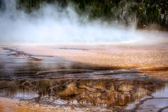 Grand Prismatic Spring. View of the Grand Prismatic Spring stock photo