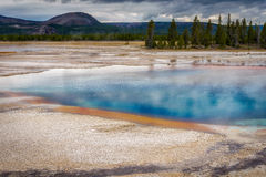 Grand Prismatic Spring. View of the Grand Prismatic Spring royalty free stock photo