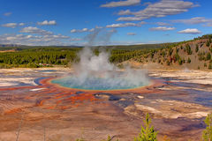 Grand Prismatic Spring In Yellowstone Royalty Free Stock Photography