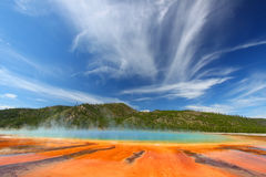 Grand Prismatic Spring - Yellowstone Royalty Free Stock Photography