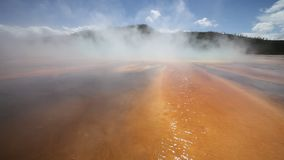 Grand Prismatic Spring in Yellowstone National Par stock footage