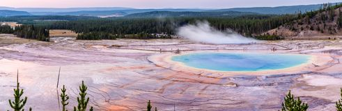 Grand Prismatic Spring in Yellowstone National Park stock photography