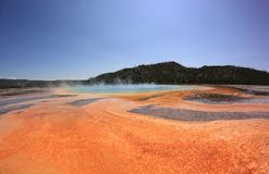 Grand Prismatic Spring in Yellowstone National Park, USA stock images