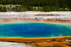 Grand Prismatic Spring in Yellowstone National Park Royalty Free Stock Photos