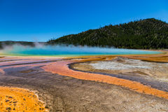 Grand Prismatic Spring in Yellowstone National Park, USA Royalty Free Stock Photos