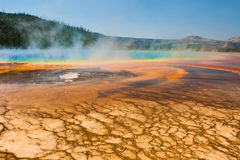 Grand Prismatic Spring in Yellowstone National Park stock photos