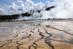 Grand Prismatic Spring, Yellowstone National Park, Wy Stock Photo