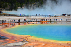 Grand Prismatic Spring, Yellowstone National Park Stock Photos