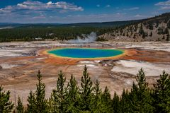 The Grand Prismatic Spring, Yellowstone National Park stock photos
