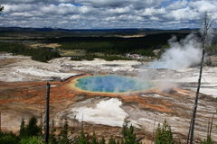 Grand Prismatic Spring in Yellowstone Royalty Free Stock Images