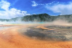 Grand Prismatic spring Yellowstone National Park wyoming royalty free stock images
